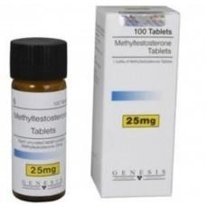 GENESIS METHYLTESTOSTERONE TABLETS 100 TAB - 25MG/TAB